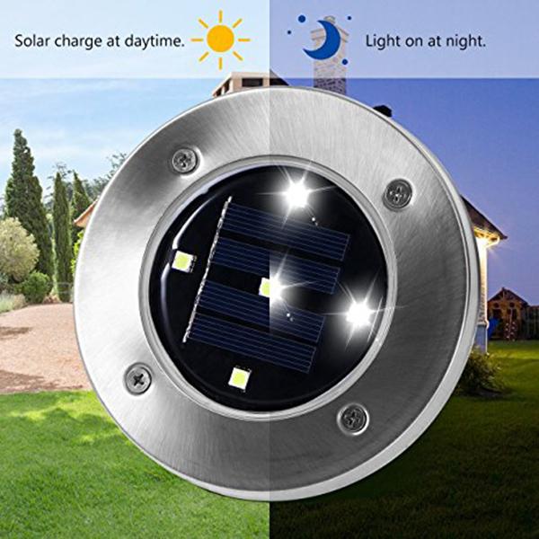 2X(5 LED Energie solaire De plein air Jardin Chemin Eclairage Cour Pelouse D6K6) 7