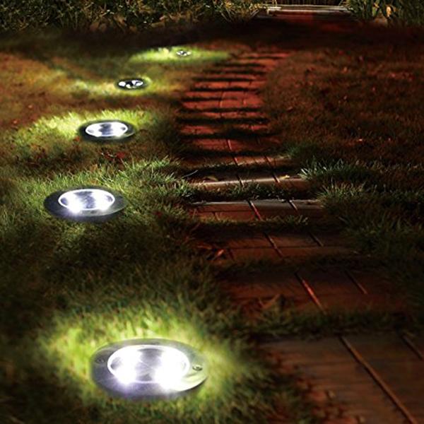 2X(5 LED Energie solaire De plein air Jardin Chemin Eclairage Cour Pelouse D6K6) 10
