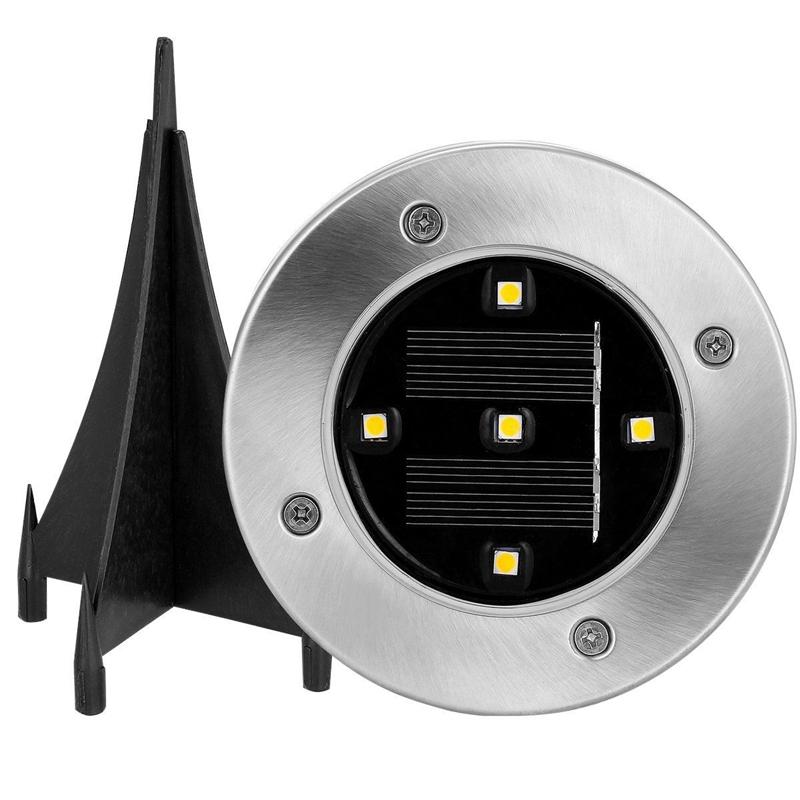 2X(5 LED Energie solaire De plein air Jardin Chemin Eclairage Cour Pelouse D6K6)
