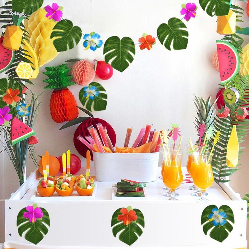 60 pcs tropical party decoration supplies 8 inch tropical palm