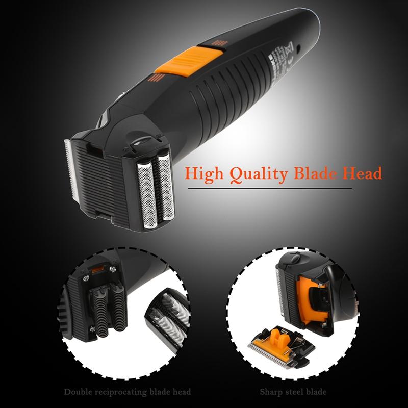 3X-MARSKE-tondeuse-electrique-rechargeable-a-double-usage-rasoir-ciseaux-de-RW1 miniature 8