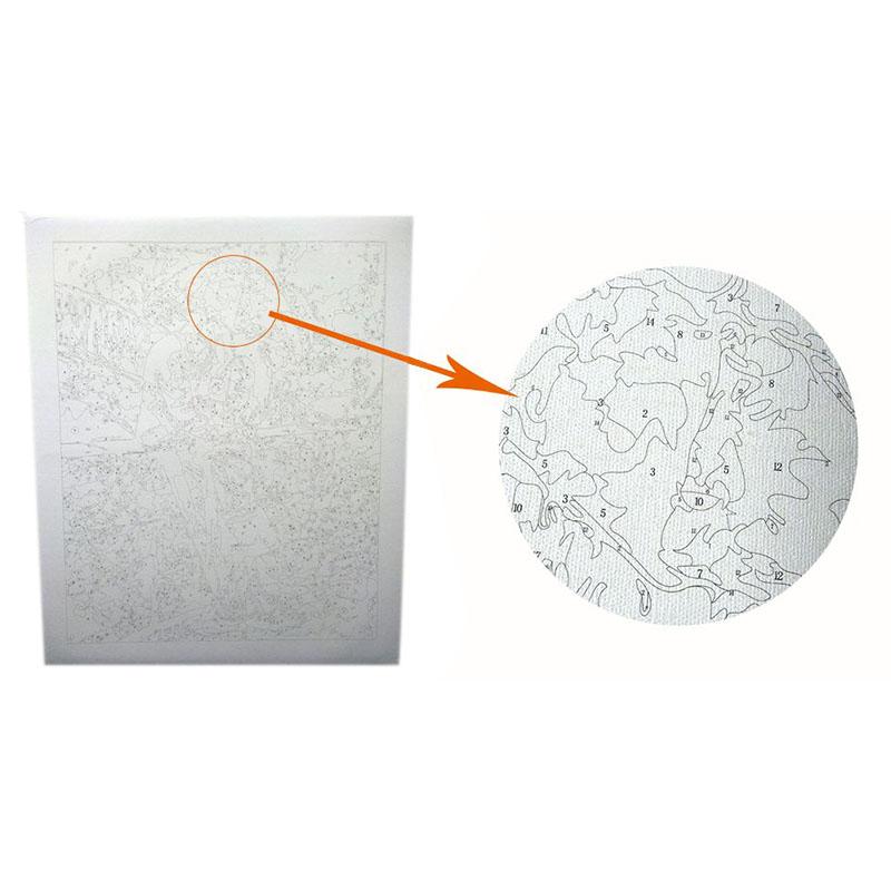 Cuadro-Enmarcado-Numeros-de-Pintura-Arte-La-Pared-Al-oleo-DIY-Decoracion-Para-el