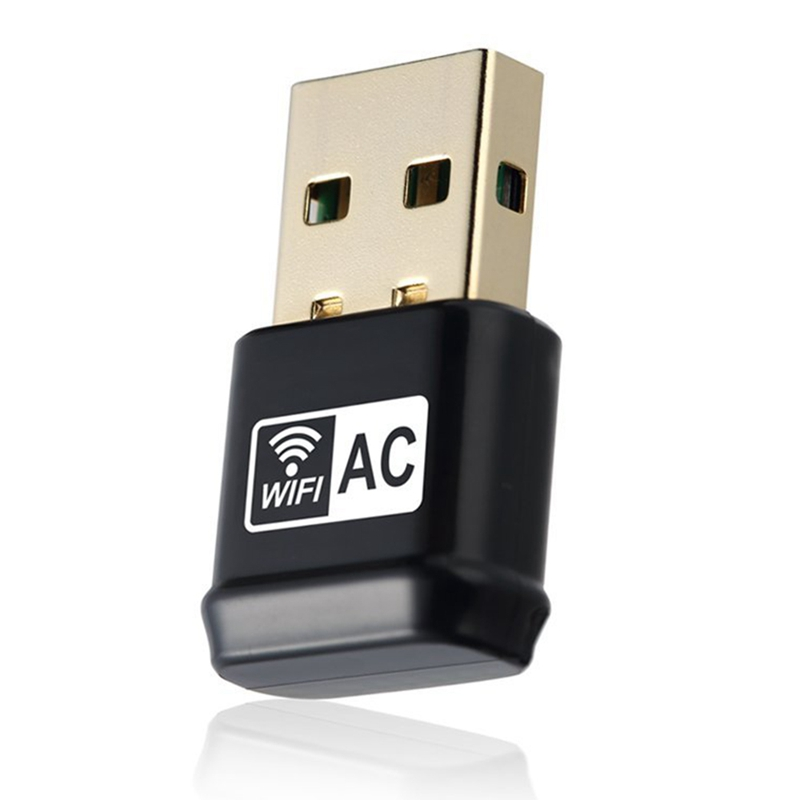2XUSB Wifi Adapter, AC600Mbps Dual Band 2.4G 5G 802.11ac USB Wireless Ad Y4G7