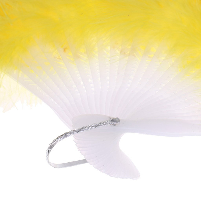 Vintage-Large-Belly-Dance-Fancy-Dress-Hand-fan-Peacock-Simulation-feather-FoldC5