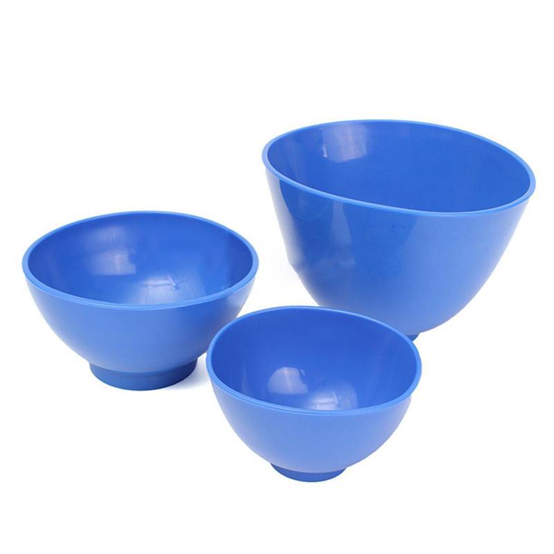 2X(3Pcs Dental Nonstick Impression Alginate Flexible Mixing Medical Bowls K7C2) 2
