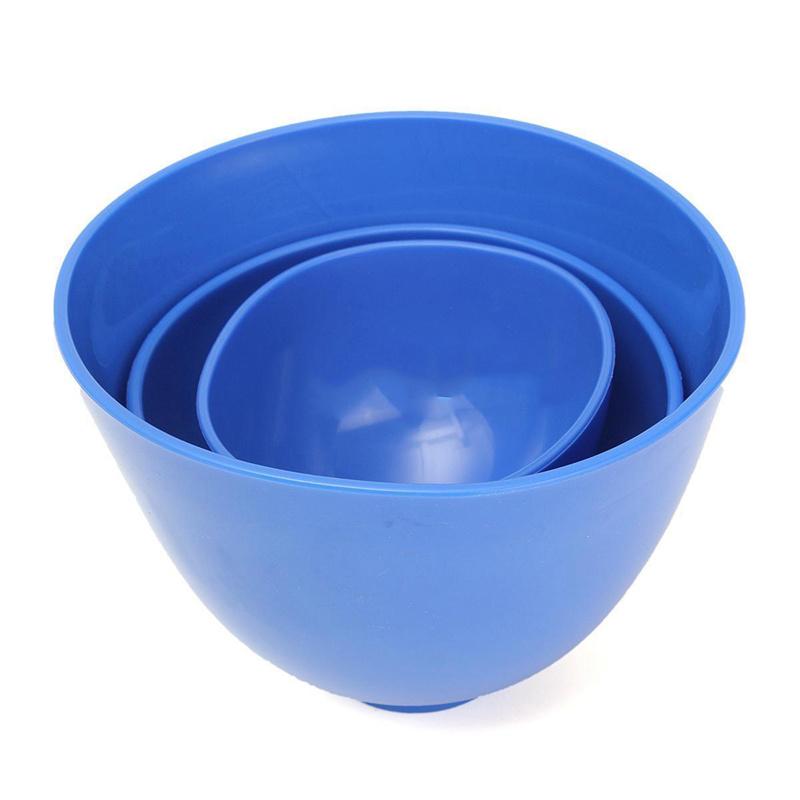 2X(3Pcs Dental Nonstick Impression Alginate Flexible Mixing Medical Bowls K7C2) 3