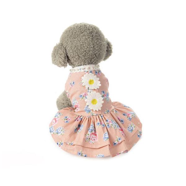 Vetements-chiot-Jupe-pour-animaux-de-compagnie-Jupe-robe-jupe-en-dentelle-C-S9N6 miniature 4
