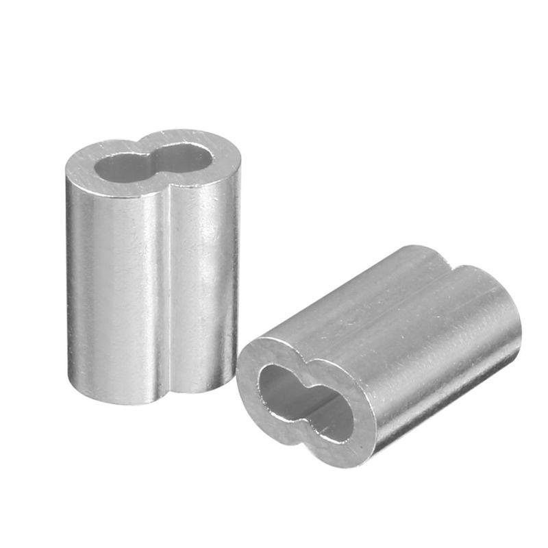 3X 4mm Raccords en aluminium pour manchons de cable m L0U3 Diametre 5//32 pouce