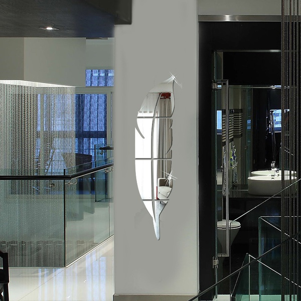 1x specchio acrilico diy specchio in argento con stile for Specchio argento moderno