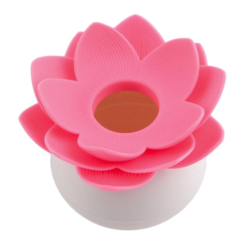 Hot-Chic-Lotus-Flower-Cotton-Bud-Holder-caja-palillo-de-dientes-caja-de-N8M7 miniatura 13