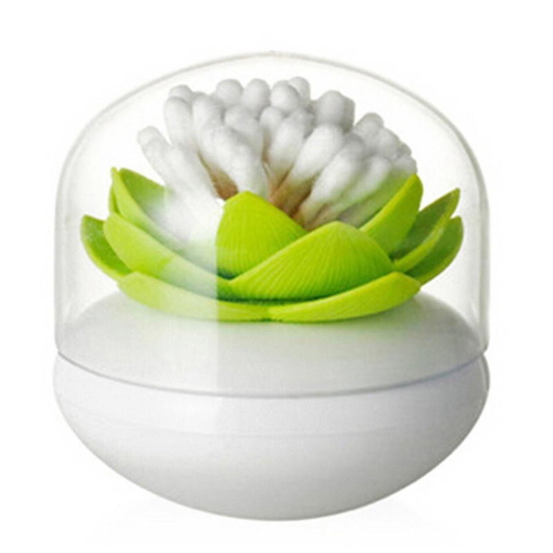 Hot-Chic-Lotus-Flower-Cotton-Bud-Holder-caja-palillo-de-dientes-caja-de-N8M7 miniatura 19