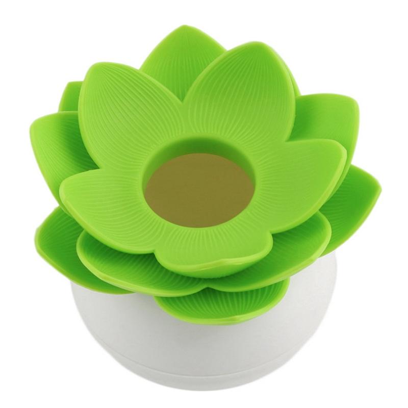 Hot-Chic-Lotus-Flower-Cotton-Bud-Holder-caja-palillo-de-dientes-caja-de-N8M7 miniatura 20