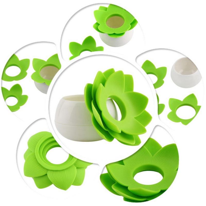 Hot-Chic-Lotus-Flower-Cotton-Bud-Holder-caja-palillo-de-dientes-caja-de-N8M7 miniatura 26