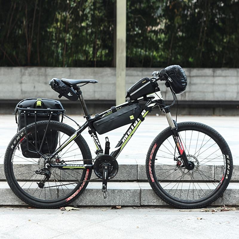 RHINOWALK-25L-Sac-de-velo-cyclisme-Sac-arriere-de-cadre-de-bicyclette-de-MTB-3K8 miniature 8