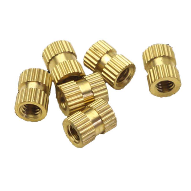 M2x3mmx3-2mm-Female-Threaded-Brass-Knurled-Insert-Embedded-Nuts-20pcs-U2Z2-S2P thumbnail 3