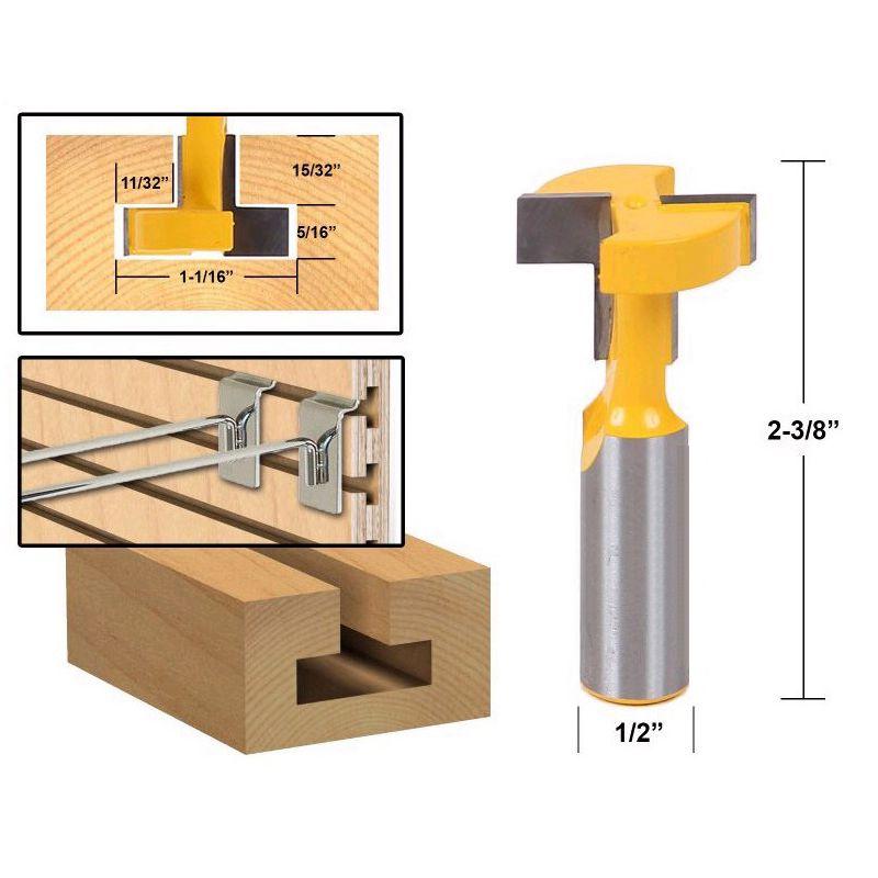 1/2 Zoll Schaft Fraeser T-Mutter & T-Track Schlitz Tenon Schneider Werkzeug W4A2