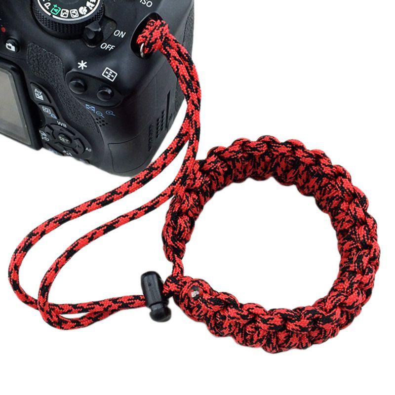 Digitalkamera Handgelenk Handschlaufe Grip Para Schnur Geflochtenes Armband R4Z8