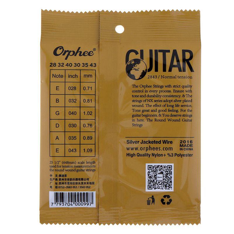 1X-Orphee-6-pcs-ensemble-Cordes-de-guitare-Corde-de-guitare-conventionnel-F2P4 miniature 6