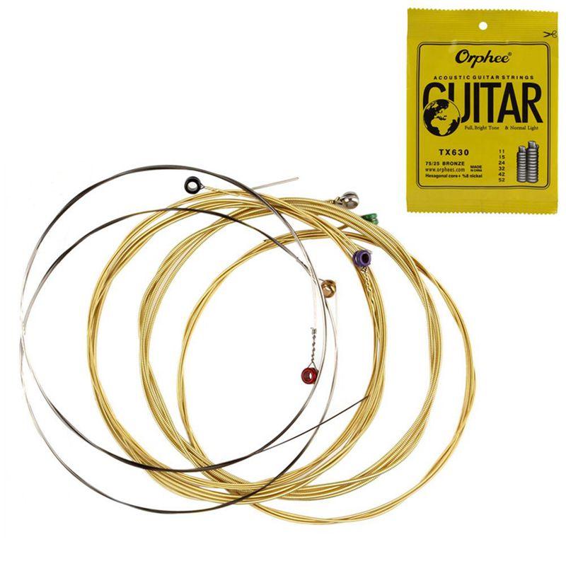5X-Orphee-6-pz-set-Corda-per-chitarra-acustica-Nucleo-esagonale-8-di-n-U8S9 miniatura 2