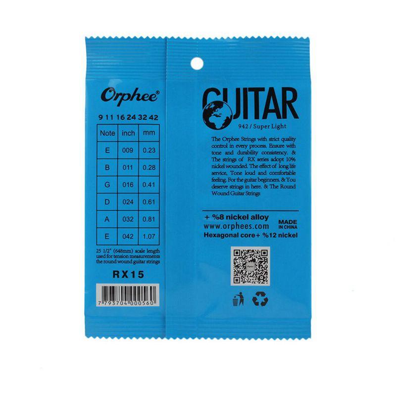 Orphee-6pcs-ensemble-Jeu-de-cordes-de-guitare-electrique-Chaine-en-alliage-30 miniature 10