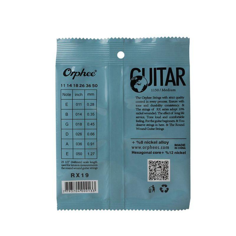 Orphee-6pcs-ensemble-Jeu-de-cordes-de-guitare-electrique-Chaine-en-alliage-30 miniature 18