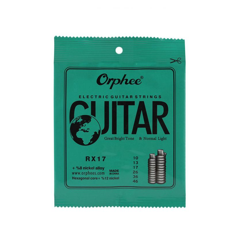 2X-Orphee-6pcs-ensemble-Jeu-de-cordes-de-guitare-electrique-Chaine-en-all-V8G8 miniature 4