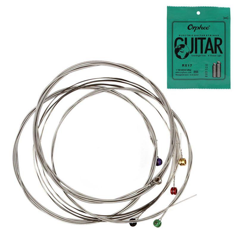 Orphee-6pcs-ensemble-Jeu-de-cordes-de-guitare-electrique-Chaine-en-alliage-OTG miniature 2