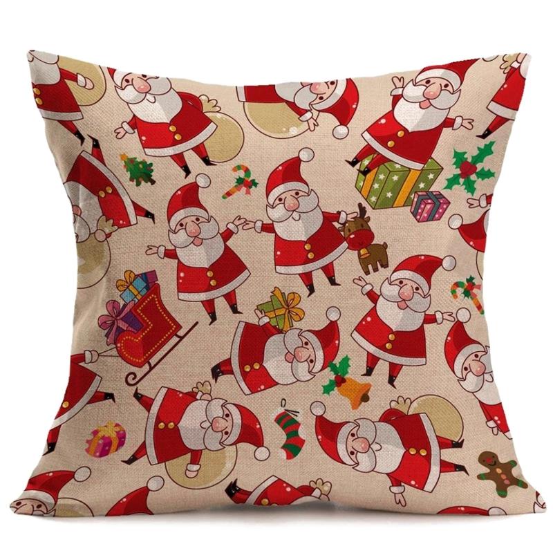 43x43cm Vintage Navidad Dibujos Animados Sofa Cama Hogar Decoracion - Vintage-navidad