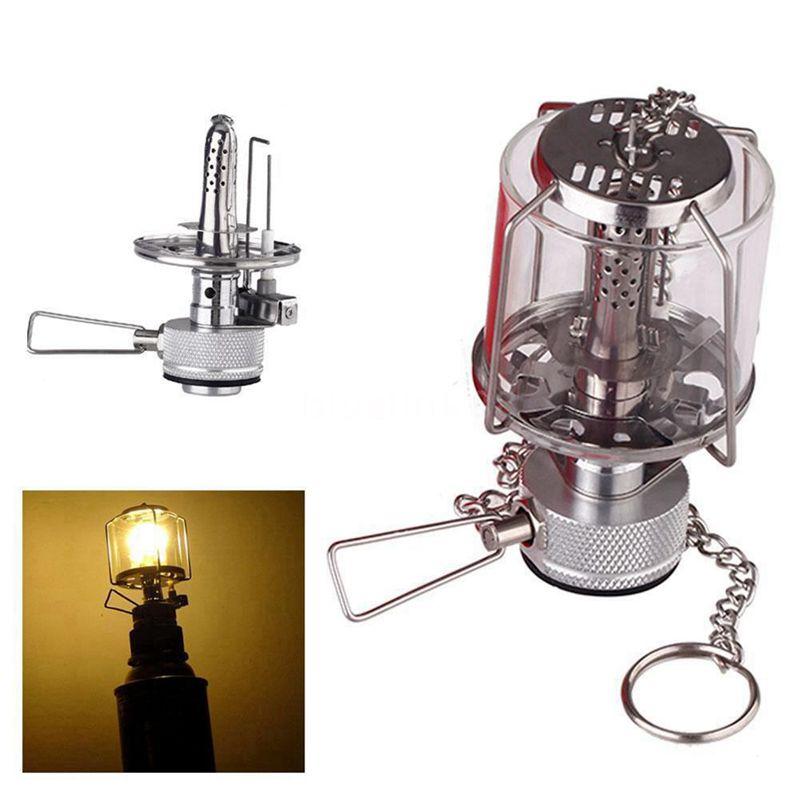 Mini linterna de camping Luz Luz Luz gas Lampara vidrio tienda portatil Butano 80LUX 1N3 8ac41e