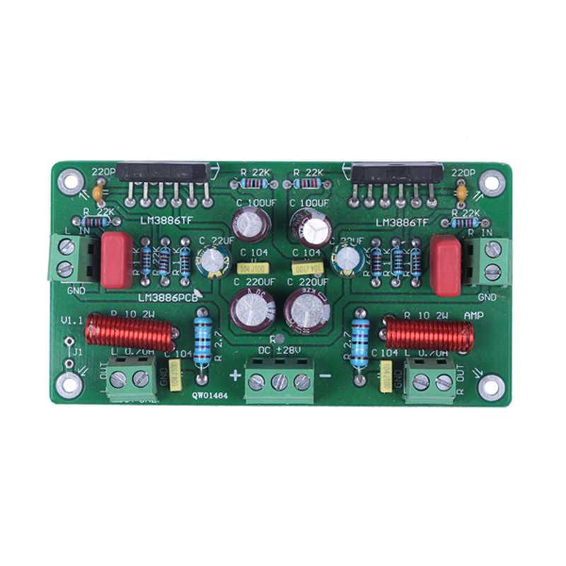 Assembled-68W-68W-Hifi-Lm3886Tf-Amplificador-Estereo-Amp-Board-50W-X-2-38-C1S1 miniatura 2