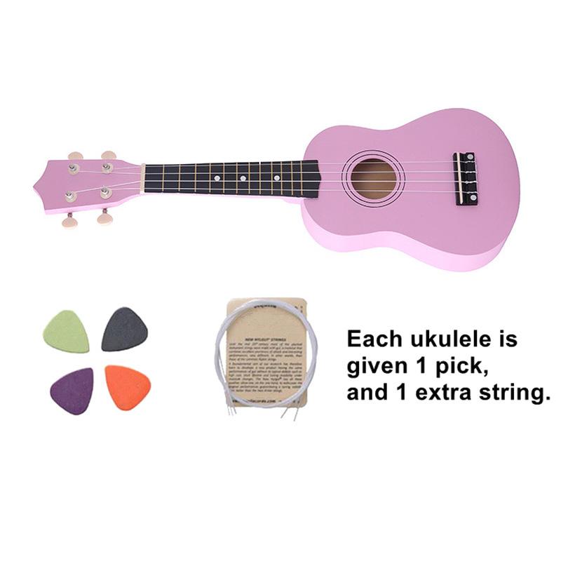 21-pollici-Soprano-Ukulele-4-stringhe-hawaiano-Chitarra-Uke-Stringa-Sce-O4R2 miniatura 16