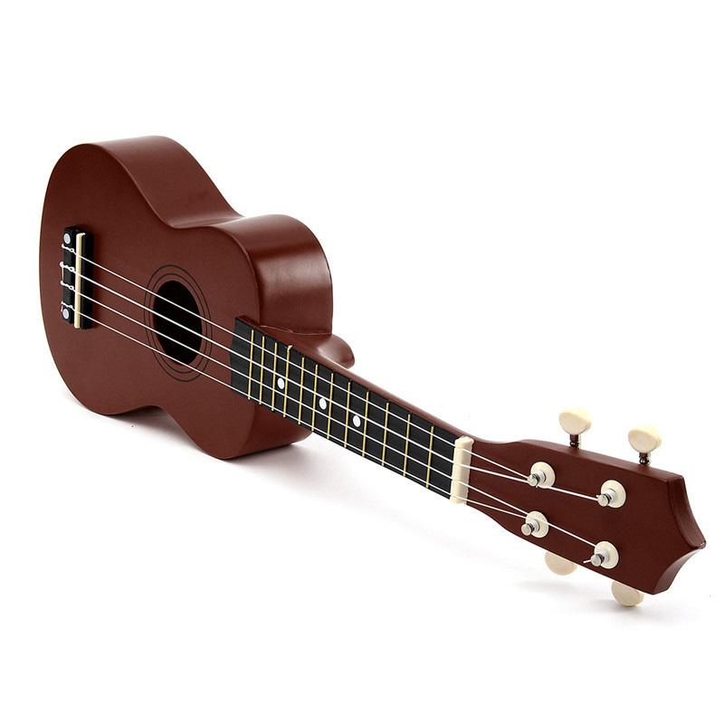 21-inch-Soprano-Ukulele-4-Strings-Hawaiian-Guitar-Uke-String-Pick-For-Begi-B4F2 thumbnail 11