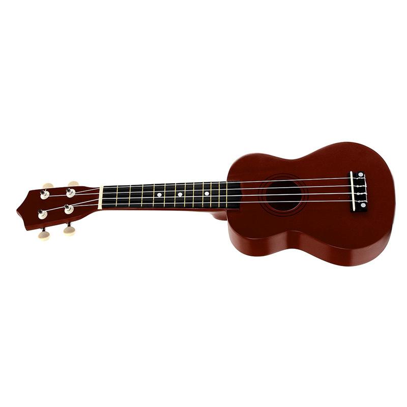 21-inch-Soprano-Ukulele-4-Strings-Hawaiian-Guitar-Uke-String-Pick-For-Begi-B4F2 thumbnail 12