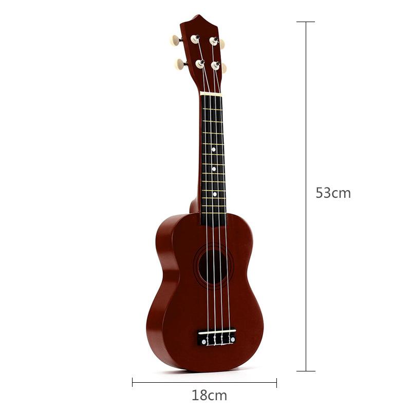 21-inch-Soprano-Ukulele-4-Strings-Hawaiian-Guitar-Uke-String-Pick-For-Begi-B4F2 thumbnail 14