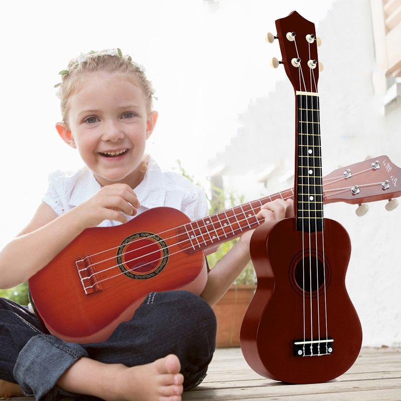 21-inch-Soprano-Ukulele-4-Strings-Hawaiian-Guitar-Uke-String-Pick-For-Begi-B4F2 thumbnail 17