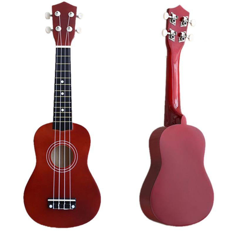 21-inch-Soprano-Ukulele-4-Strings-Hawaiian-Guitar-Uke-String-Pick-For-Begi-B4F2 thumbnail 22