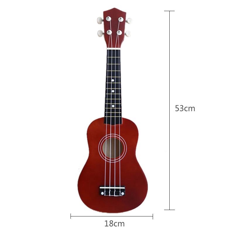 21-inch-Soprano-Ukulele-4-Strings-Hawaiian-Guitar-Uke-String-Pick-For-Begi-B4F2 thumbnail 24