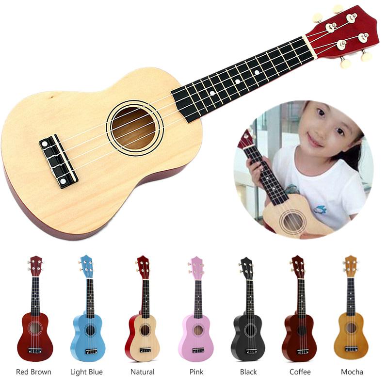 21-inch-Soprano-Ukulele-4-Strings-Hawaiian-Guitar-Uke-String-Pick-For-Begi-B4F2 thumbnail 28