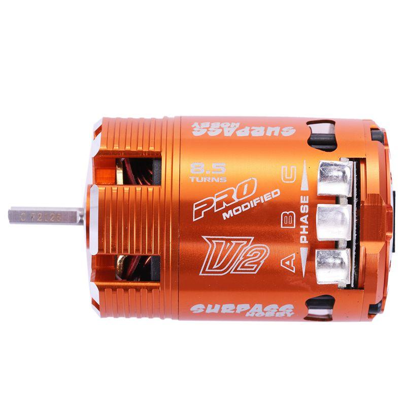 2x (surpass hobby 540 8.5t 4100kv sensor buerstenloser motor para 1 10 gelae h7r6