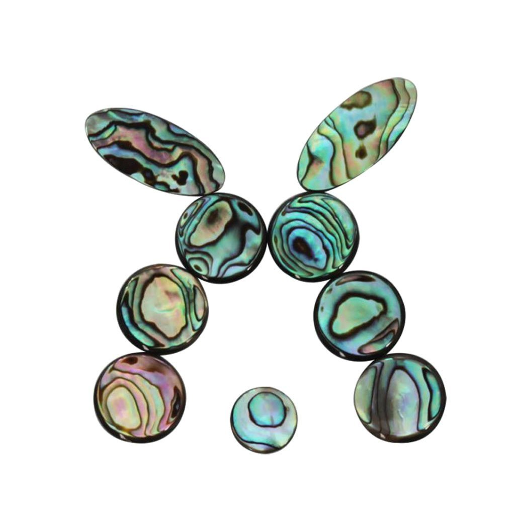 20X(Saxophone Finger Button Real Abalone Shell Sax Mother of Key Buttons I B9W2)