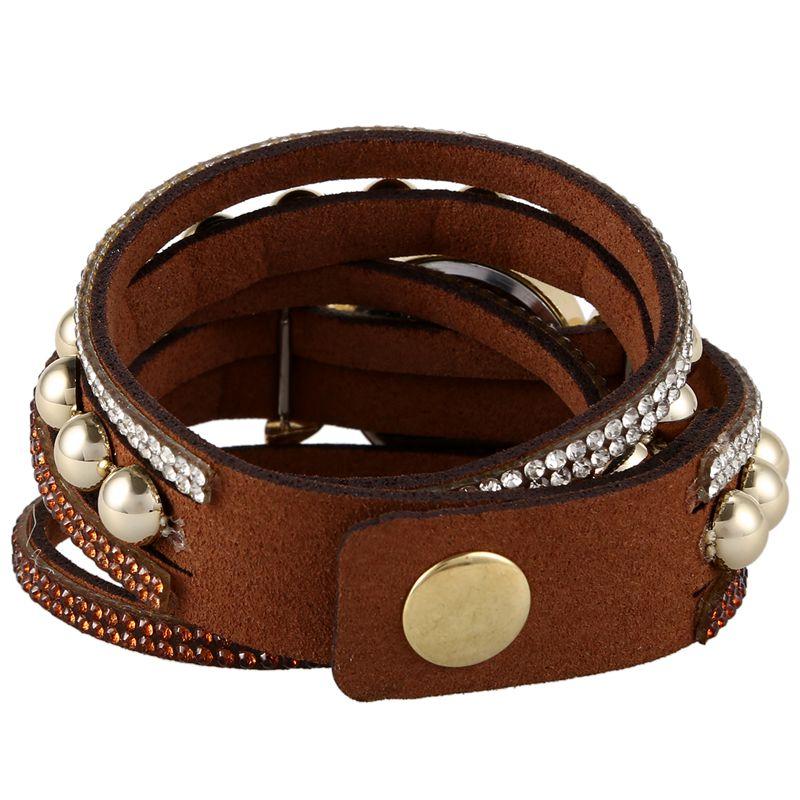 Duoya-marque-de-luxe-femmes-strass-poignet-en-cuir-montre-a-quartz-pour-dam-Y2I5 miniature 4