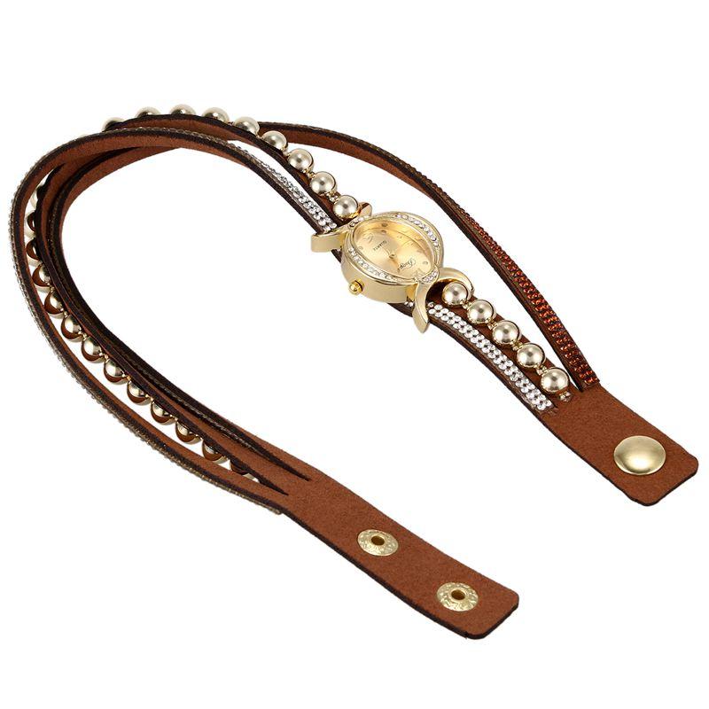 Duoya-marque-de-luxe-femmes-strass-poignet-en-cuir-montre-a-quartz-pour-dam-Y2I5 miniature 5