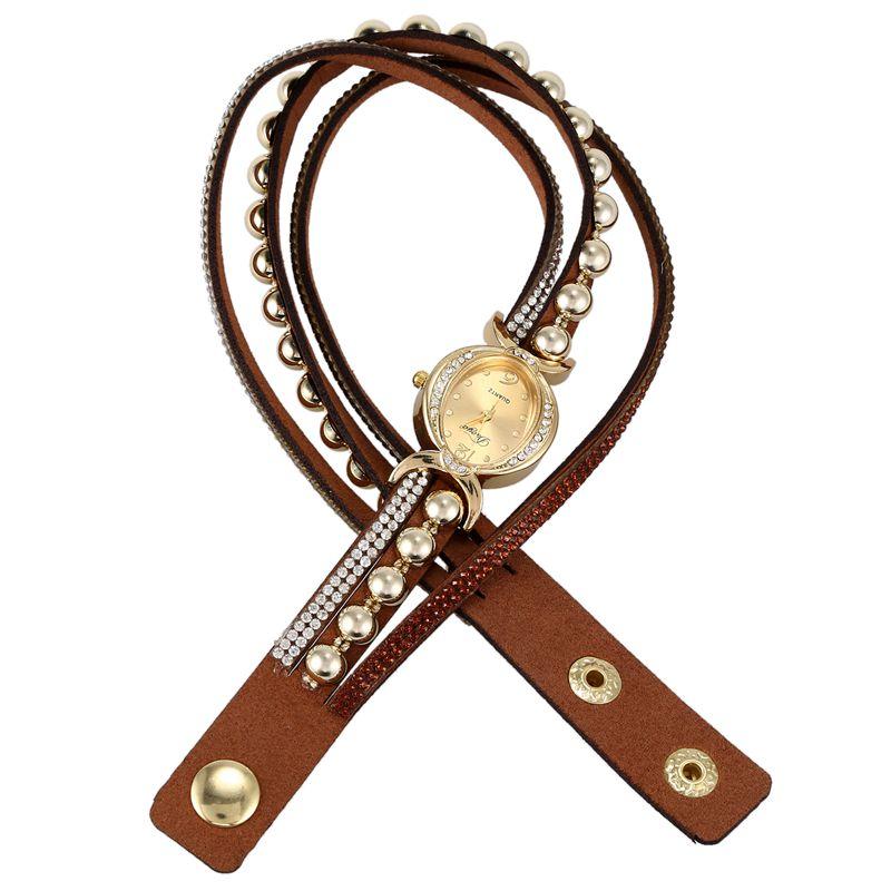 Duoya-marque-de-luxe-femmes-strass-poignet-en-cuir-montre-a-quartz-pour-dam-Y2I5 miniature 6