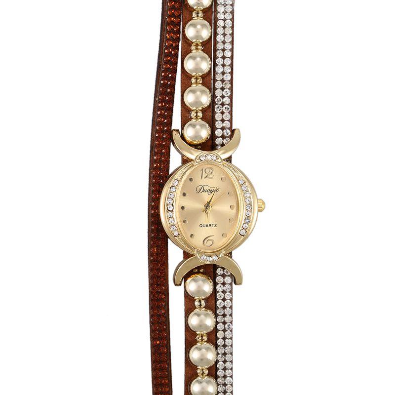 Duoya-marque-de-luxe-femmes-strass-poignet-en-cuir-montre-a-quartz-pour-dam-Y2I5 miniature 9