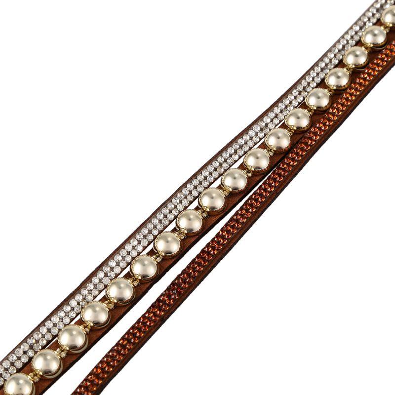 Duoya-marque-de-luxe-femmes-strass-poignet-en-cuir-montre-a-quartz-pour-dam-Y2I5 miniature 10