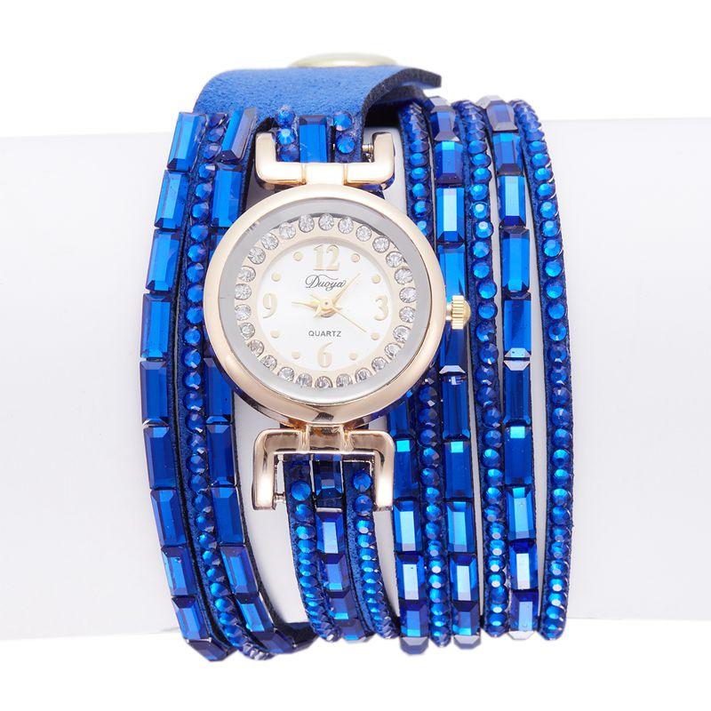 2ce14c672fcd 3X(Duoya Marca Reloj pulsera de moda Reloj de cuero informal para ...
