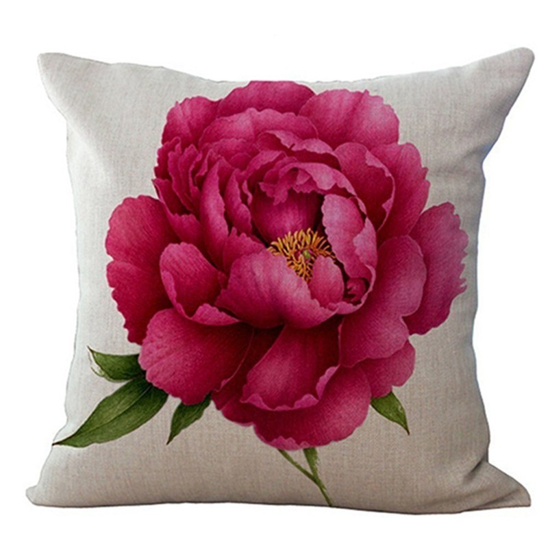 Vintage Floral//Flower flax Decorative Throw Pillow Case Cushion Cover Home L8Y8
