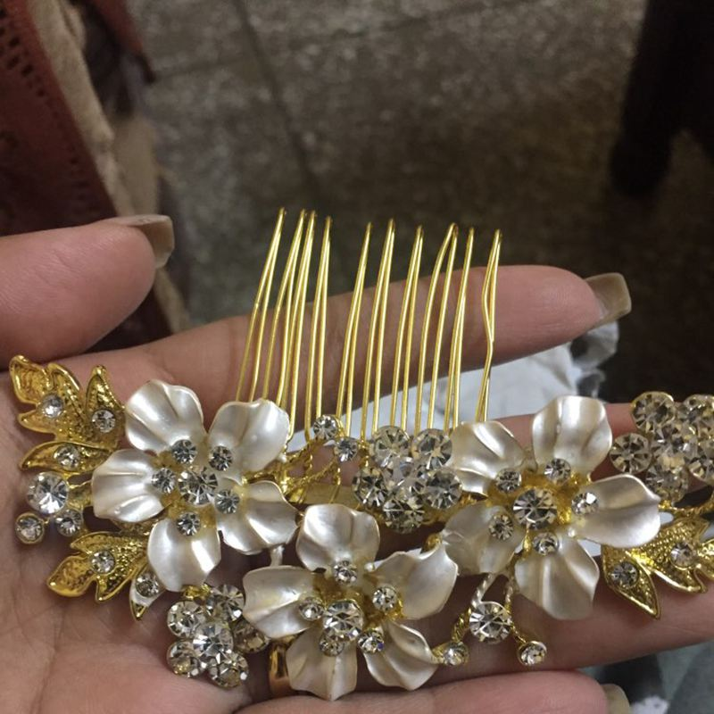 SODIAL R Fashion Hochzeit braeutlich Brautjungfer Perlen Haarnadel Klammer OE