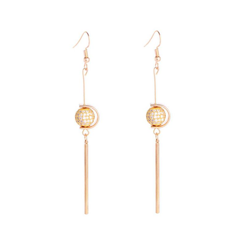 Drop Dangle Round Ball Earrings Minimalist Summer Geometric Fashion Long Je P3A8