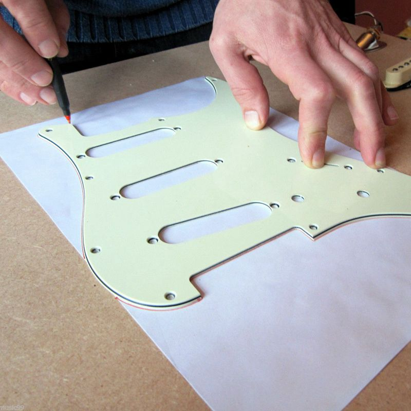 Multi-usages-20-x-30-cm-Auto-adhesif-Guitare-Blindage-en-cuivre-Ruban-adhes-E1L5 miniature 7